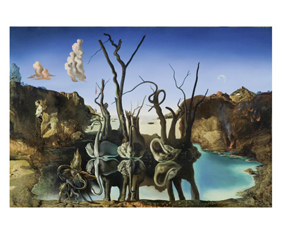 Swans Reflecting as Elephants poster print by Salvador Dali