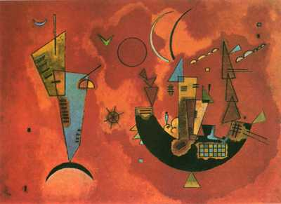 For and Against poster print by Wassily Kandinsky