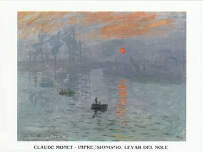 Impression at Sunrise 1873 poster print by ClaudeMonet