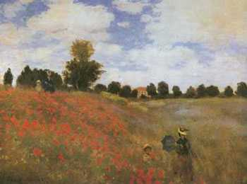 Poppy Field, 1873 poster print by Claude Monet