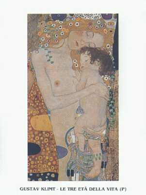 Three Ages of Woman-Mother & Child poster print by Gustav Klimt