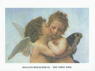 First Kiss (Part) poster print by William-Adolphe Bouguereau