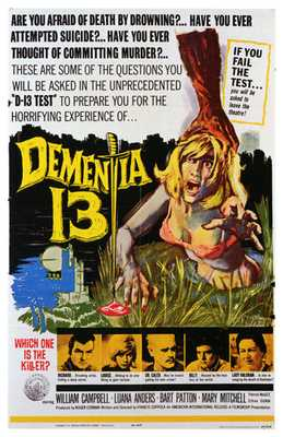 Dementia 13 poster print by  Entertainment Poster