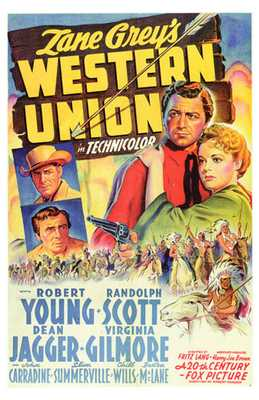 Western Union poster print by  Entertainment Poster