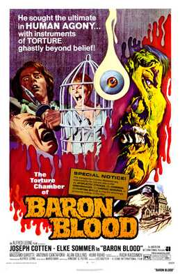 Baron Blood poster print by  Entertainment Poster