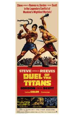 Duel of the Titans poster print by  Entertainment Poster