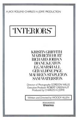 Interiors poster print by  Entertainment Poster