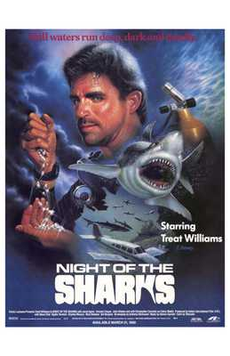 Night of the Sharks poster print by  Entertainment Poster