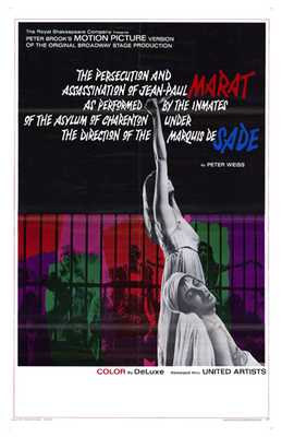 Marat De Sade poster print by  Entertainment Poster
