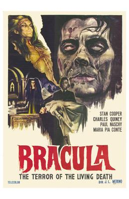 Dracula the Terror of the Living Dead poster print by  Entertainment Poster