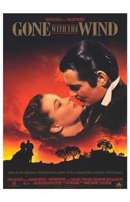 Gone with the Wind poster print by  Entertainment Poster