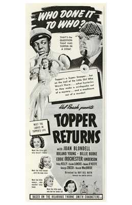 Topper Returns poster print by  Entertainment Poster