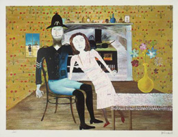 Sidney Nolan - Constable Fitzpatrick with Kate Kelly 1946