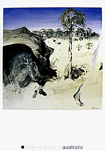 Artist in a Cave poster print by ArthurBoyd