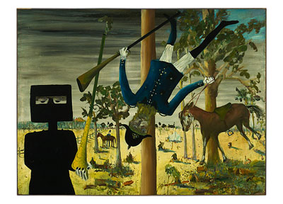 Death of Constable Scanlon 1946 poster print by Sidney Nolan