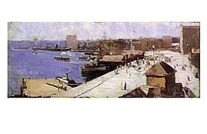 Circular Quay 1893 poster print by ArthurStreeton