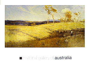Golden Summer, Eaglemont 1889 poster print by Arthur Streeton