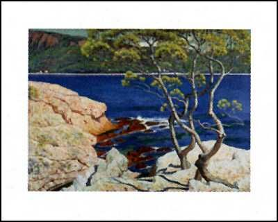 Red Rocks At Agay poster print by Henry Bouvet