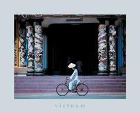 Follower of Cao Dai, Tay Ninh Temple poster print by  Torquat