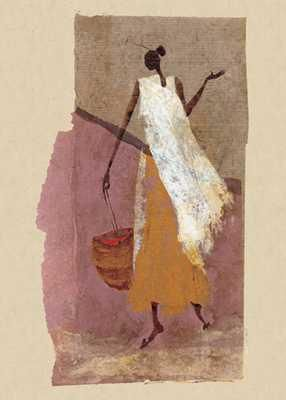 Woman With A Basket poster print by  Unknown