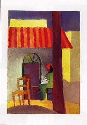Turkish Cafe I poster print by August Macke