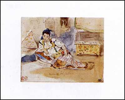 Arab Woman Seated poster print by Eugene Delacroix