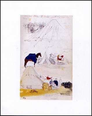 Campement poster print by Eugene Delacroix