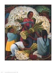 Flower Vendor poster print by Diego Rivera