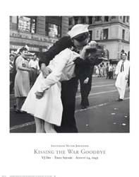 Kissing the War Goodbye, Vj Day, Times S poster print by Lt Victor Jorgensen