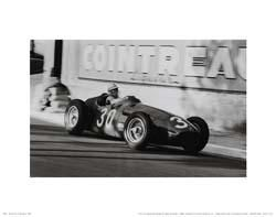 Grand Prix of Monaco 1956 poster print by Jesse Alexander