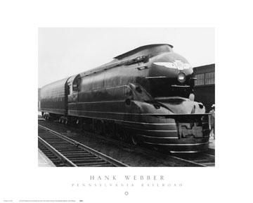 Pennsylvania Railroad poster print by Hank Webber