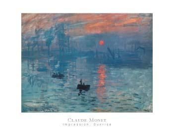Impression Sunrise poster print by Claude Monet