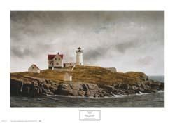 Nubble Light poster print by Douglas Brega