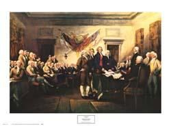 Declaration of Independence poster print by John Trumbull
