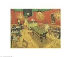 Night Cafe with Pool Table poster print by Vincent van Gogh