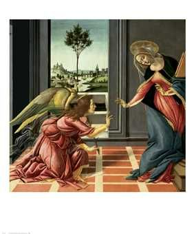 Annunciation poster print by Sandro Botticelli