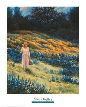 Country Blue poster print by June Dudley