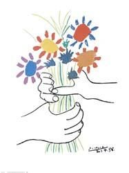 Bouquet with Hands art poster print by Pablo Picasso