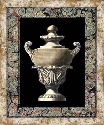 Urn on Marbleized Background I poster print by  Unknown