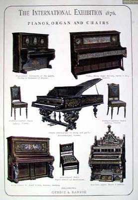 Harmoniums and pianos - poster