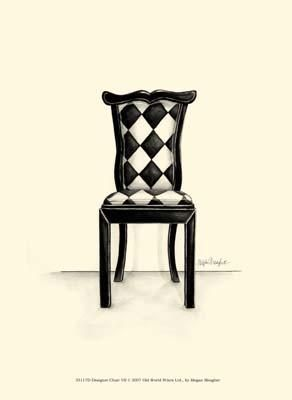 Designer Chair VII poster print by Megan Meagher