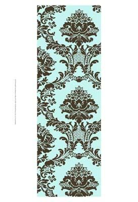 Small Vivid Damask In Blue II poster print by  Vision Studio