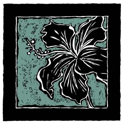 Tropical Woodblock IV poster print by Chariklia Zarris