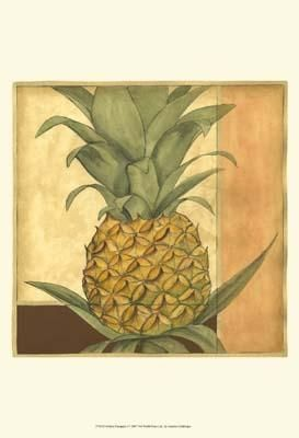 Golden Pineapple I poster print by Jennifer Goldberger