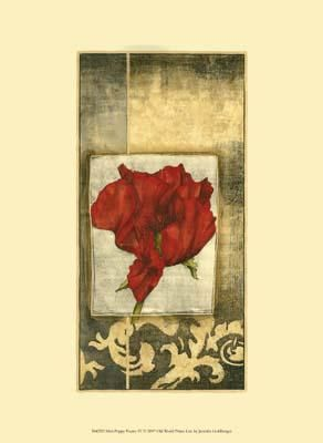 Mini Poppy Poetry IV poster print by Jennifer Goldberger
