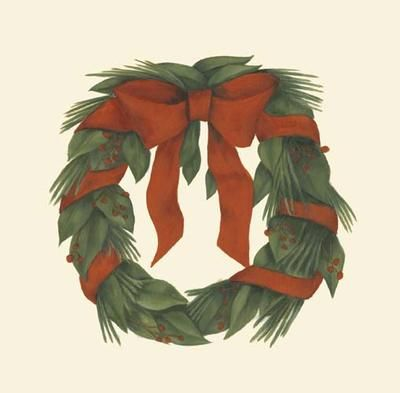 Small Holiday Wreath (H) poster print by Goldberger Jennifer