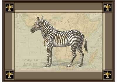 Zebra with Border I poster print by  Unknown