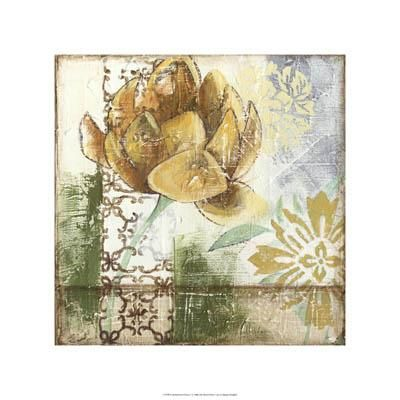 Globeflower Fresco I poster print by Megan Meagher