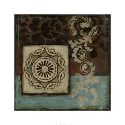 Damask Tapestry Wrosette I poster print by Jennifer Goldberger