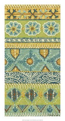 Eastern Embroidery I poster print by Chariklia Zarris